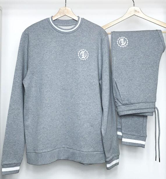 Grey Sweatshirt Tracksuit set